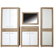 Garderobenschrank Malta - Eichefarben/Weiß, MODERN, Holzwerkstoff (95/196,8/36cm)