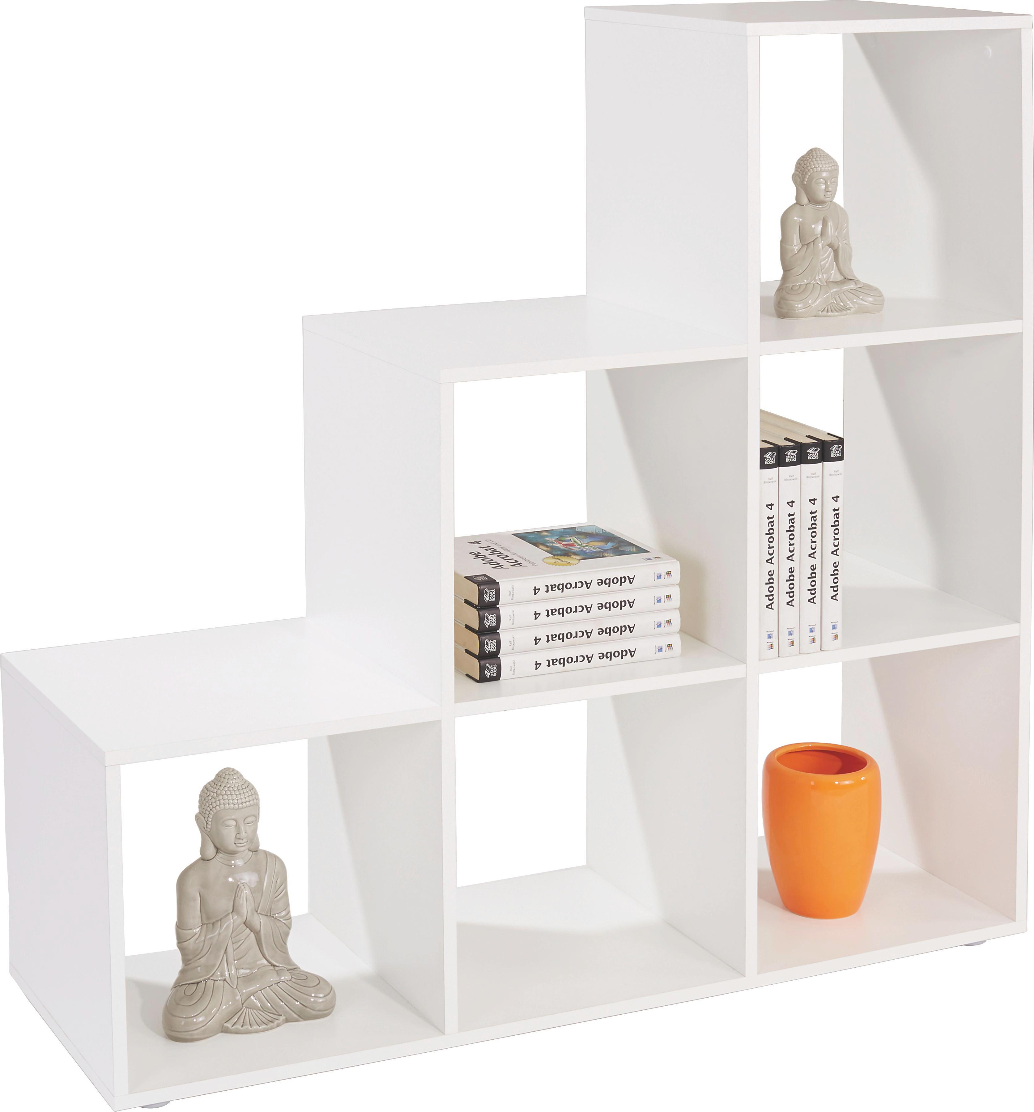 Dělicí Stěna Pisa 5 - bílá, Moderní, dřevěný materiál (112/114/35cm)