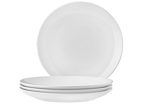 Dezertný Tanier 4 Ks Set, 'billy' - biela, Moderný, keramika (20,5cm) - Mömax modern living