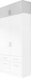 Aufsatzschrank Celle, 2-türig - Weiß, MODERN, Holz (91/40/54cm)
