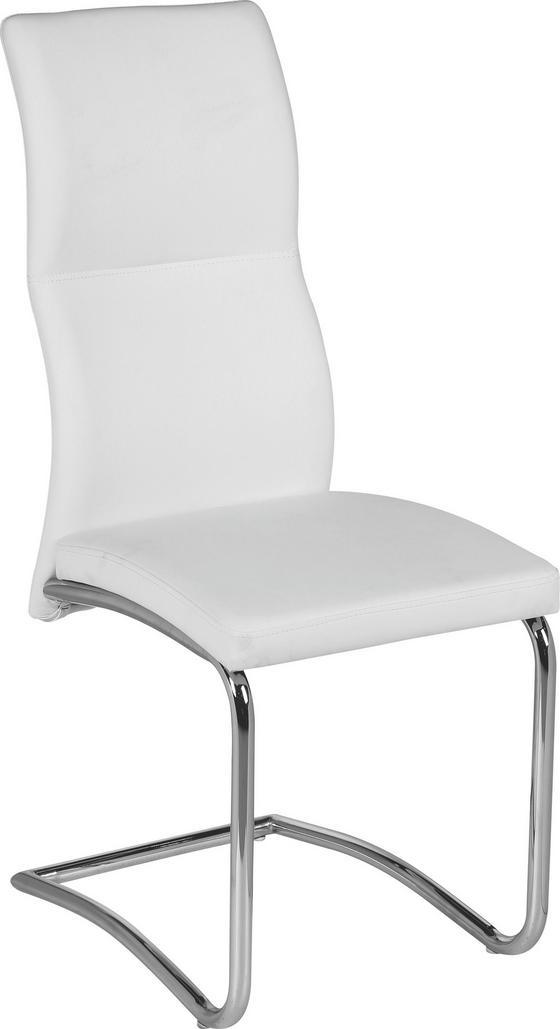 Houpací Židle Wendy - bílá, Moderní, kov/textilie (43,5/102/62cm)