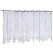 Kurzgardine Lace - Weiß, KONVENTIONELL, Textil (150/50cm) - OMBRA