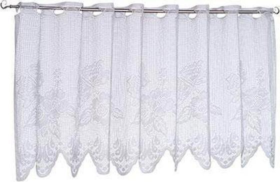 Vitrázsfüggöny 419073 Lace - fehér, konvencionális, textil (150/50cm) - OMBRA