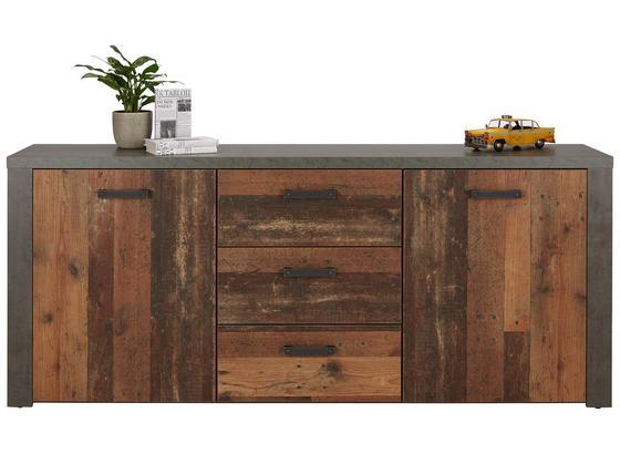 KOMODA SIDEBOARD CLIF - hnedá/tmavohnedá, Moderný, kov/kompozitné drevo (196/83/41cm)