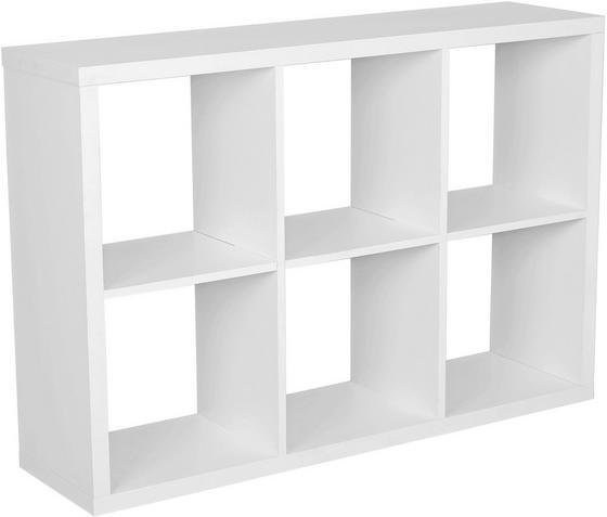 Regál Lucky - biela, Moderný, kompozitné drevo (110/75/35cm)