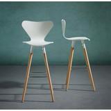 Barová Židle Frederica - bílá/barvy buku, Moderní, kov/dřevo (41/102/38cm) - Modern Living