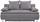 Boxspringsofa Marlene B: 208cm - Hellgrau, MODERN, Holz/Textil (208/100/106cm) - Luca Bessoni