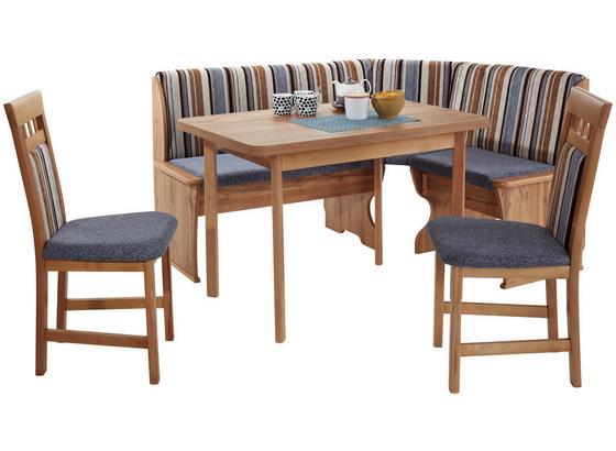 Eckbankgruppe Ried W - Blau/Eichefarben, KONVENTIONELL, Holzwerkstoff/Textil (122/162cm)