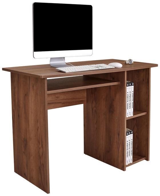 Písací Stôl Remus - tmavohnedá, Moderný, kompozitné drevo (110/74/50cm)