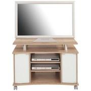 Phonotisch Video Center - Eichefarben/Weiß, MODERN, Holz/Kunststoff (100/67/45cm)