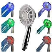 Handbrause LED Yllumi - Chromfarben, KONVENTIONELL, Kunststoff (12/25cm)