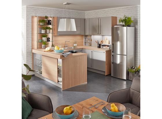 Vstavaná Kuchyňa Toronto - sivá/farby hliníka, Moderný, kompozitné drevo (270/177,5cm)