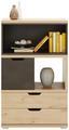 Komoda Highboard Player - farby dubu/tmavosivá, Moderný, kompozitné drevo (71/116/40cm)