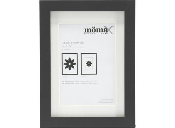 Rám Na Obrazy Gitta - černá, Moderní, kompozitní dřevo/sklo (13/18/3,6cm) - Mömax modern living