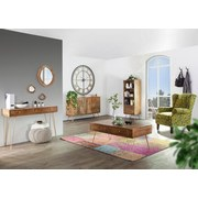 Sideboard Scan B: 145 cm - Goldfarben/Naturfarben, Design, Holz/Metall (145/88/43cm)