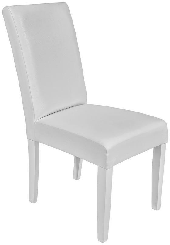 SZÉK JOHN - Fehér/Bükk, konvencionális, Faalapú anyag/Textil (44,5/92,3/59cm)