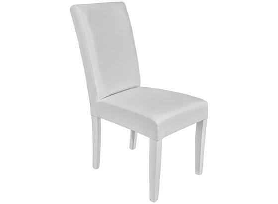 Židle John - bílá/barvy buku, Konvenční, kompozitní dřevo/textil (44,5/92,3/59cm)