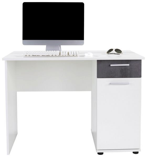 Schreibtisch Star - Dunkelgrau/Weiß, KONVENTIONELL, Holzwerkstoff (109/77/60cm)