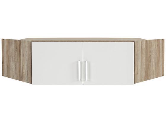 Nadstavec Na Skriňu Ku 2 Dv.rohovej Skrini Wien - farby dubu/biela, Konvenčný, kompozitné drevo (120/39/54cm)