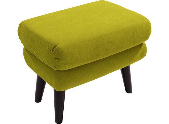 Taburetka Viborg - zelená, Moderný, textil (57/47/40cm)