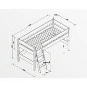 mittelhohes Bett Kim 90x200 cm Buche Massiv - Weiß, Design, Holz (208/127/113cm)