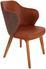 Stuhl Silvana - Hellbraun/Eichefarben, MODERN, Holz/Textil (53/84/59cm)
