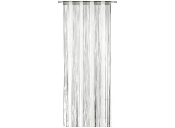 Provázková Záclona String - šedá/bílá, textil (90/245cm) - Premium Living