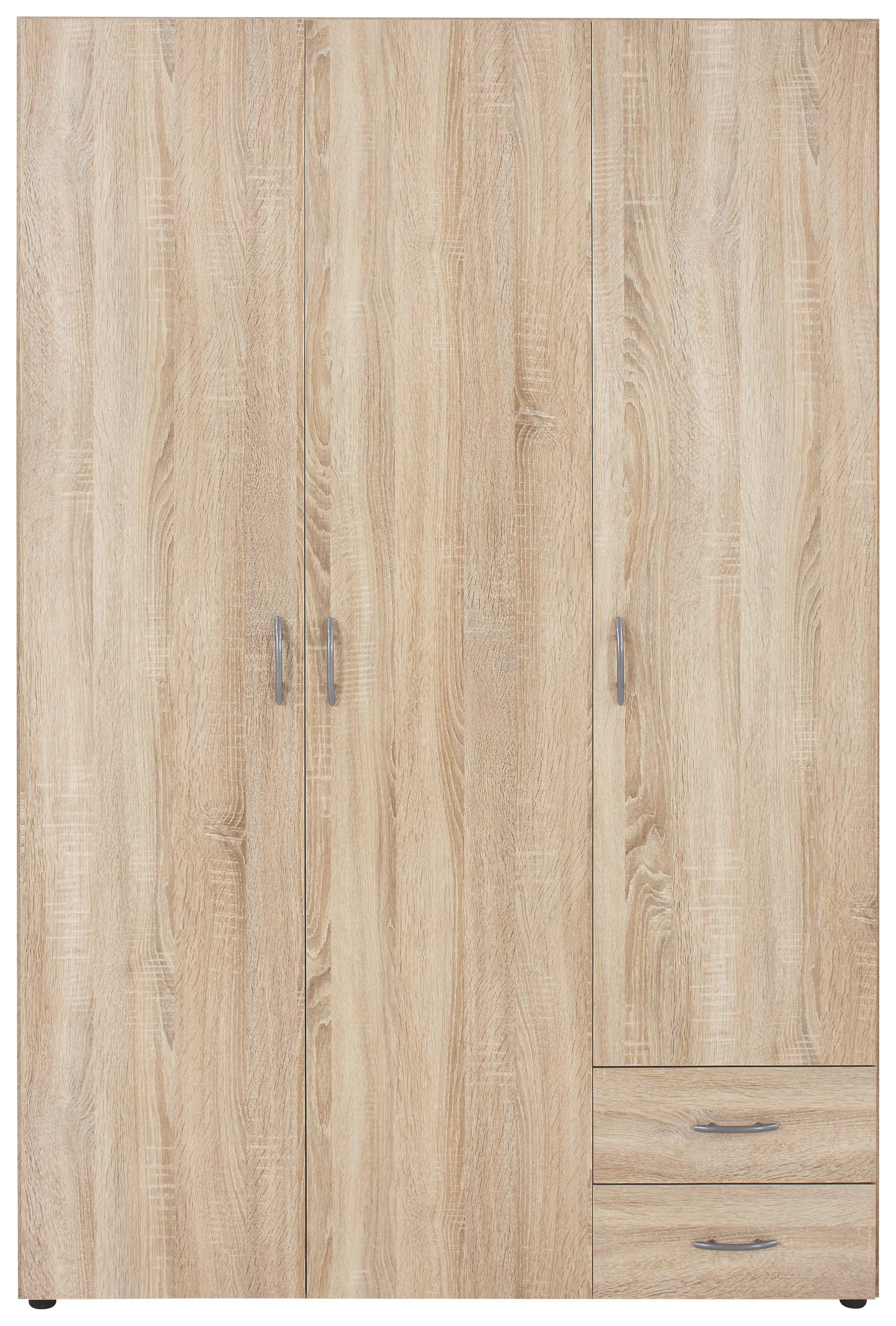 Kleiderschrank Base 3   Eichefarben, KONVENTIONELL, Holzwerkstoff  (120/177/52cm)