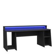 Gaming Tisch Tezaur B: 200 cm - Schwarz, Basics, Holzwerkstoff/Kunststoff (200/91,1/72cm) - MID.YOU