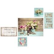 Keilrahmenbild Live What You Love - Pink/Braun, MODERN, Holzwerkstoff (70/150/2cm)