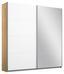 Schwebetürenschrank Belluno 181 cm Eiche/ Weiß - Weiß/Sonoma Eiche, MODERN, Holzwerkstoff (181/210/62cm)