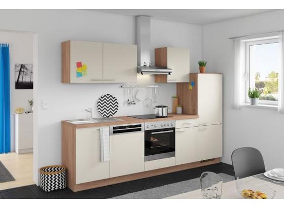 Küchenblock Win 280cm Magnolia - Eichefarben/Magnolie, MODERN, Holzwerkstoff (280cm) - Express
