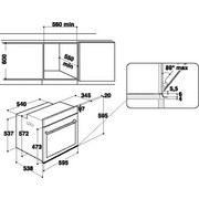 Einbaubackofen Akz9 791 Ix - Edelstahlfarben/Schwarz, Basics, Glas/Kunststoff (59,5/59,5/56,4cm) - Whirlpool