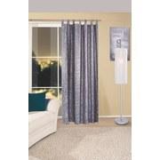 Vorhang mit Schlaufen und Band Linda B: 140 cm, Silber - Silberfarben, KONVENTIONELL, Textil (140/255cm) - Ombra
