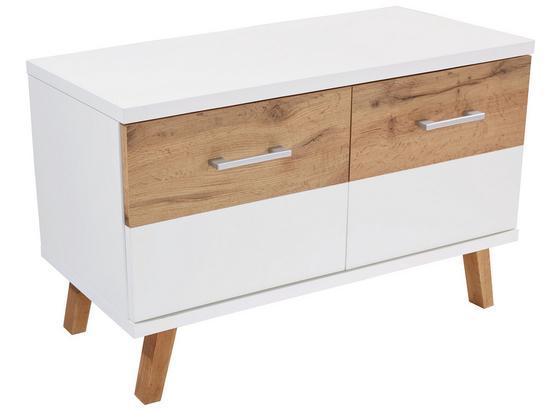 Lavica Rivoli - farby dubu/farby jelše, Moderný, kompozitné drevo (85/50/35,5cm)