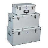 Aufbewahrungsboxen-Set 3-Teilig - Alufarben, KONVENTIONELL, Holzwerkstoff (12,5kg)