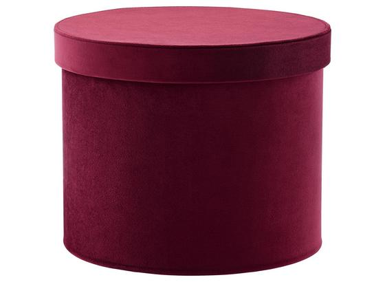Box Úložný Kathi - bobulová, karton/textil (27.2/21.5cm) - Mömax modern living