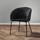 Židle Vani - černá/tmavě šedá, Moderní, kov/textil (61/81/51cm) - Modern Living