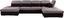 Wohnlandschaft in U-Form Wonder II 190x384x241 cm - Chromfarben/Schwarz, MODERN, Textil (190/384/241cm)