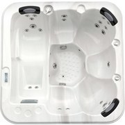 Whirlpool Acryl Rivoli 200 X 92 X 200 cm - Weiß/Grau, Design, Holz/Kunststoff (200/92/200cm)