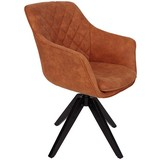 DREHSTUHL BELLINI B: 60 CM BRAUN - Schwarz/Braun, MODERN, Holz/Textil (60/88/57,5cm) - Luca Bessoni
