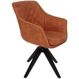 Stuhl Bellini B: 60 cm Braun - Schwarz/Braun, MODERN, Holz/Textil (60/88/57,5cm) - Luca Bessoni