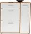 Schuhschrank Ybbs - Eichefarben/Weiß, MODERN, Holzwerkstoff (90/100/33,3cm)