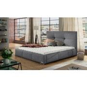 Polsterbett Webstoff 180x200 Fiora, Grau - Chromfarben/Grau, KONVENTIONELL, Holz/Textil (180/200cm) - Xora