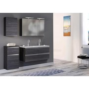 Unterschrank mit Soft-Close Arezzo B: 40cm, Graphit - Silberfarben/Graphitfarben, Basics, Holzwerkstoff (40/79/35cm) - MID.YOU