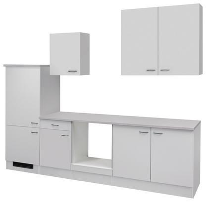 Kompakter Küchenblock in Weiß ohne Geräte