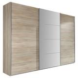 Skříň Ernie Dekor Dub - barvy dubu, Moderní, dřevěný materiál/sklo (270/210/65cm)