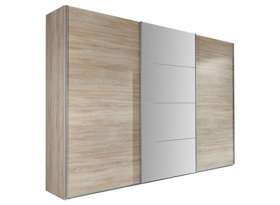 Skriňa Ernie Dekor Dub - farby dubu, Moderný, kompozitné drevo/sklo (270/210/65cm)