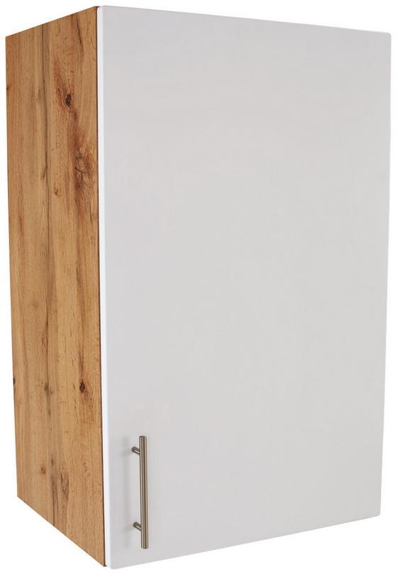 Küchenoberschrank Stella H60-89 - Eichefarben/Weiß, Holzwerkstoff (60/89/37cm) - Ombra