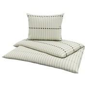 Bettwäsche Hellin - Schwarz/Weiß, KONVENTIONELL, Textil - Ombra
